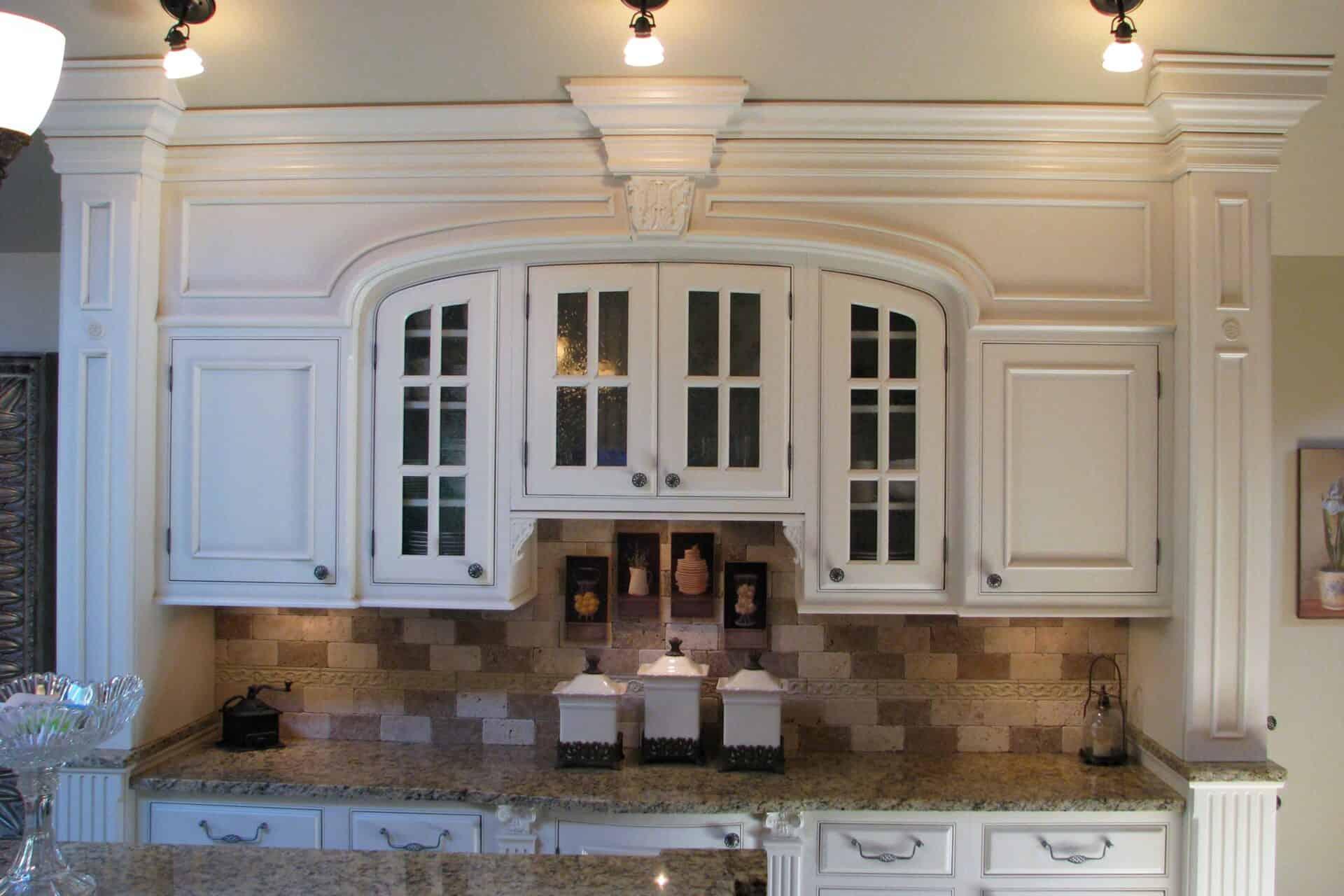 Custom Kitchen Cabinets - White