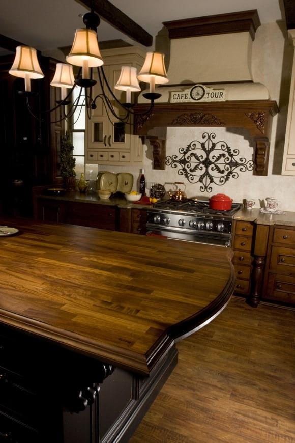 Custom Cabinets and Kitchen Island